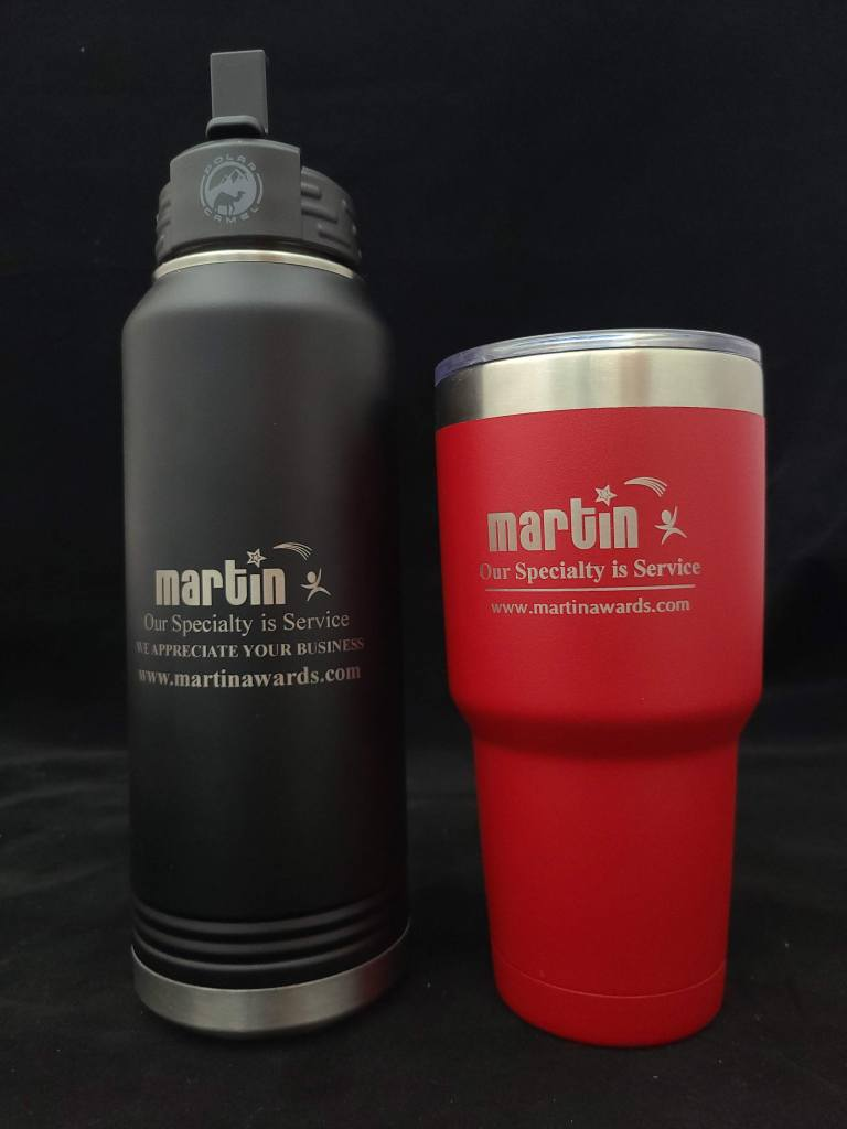 Polar Camel Water Bottle compared to 30 oz cup