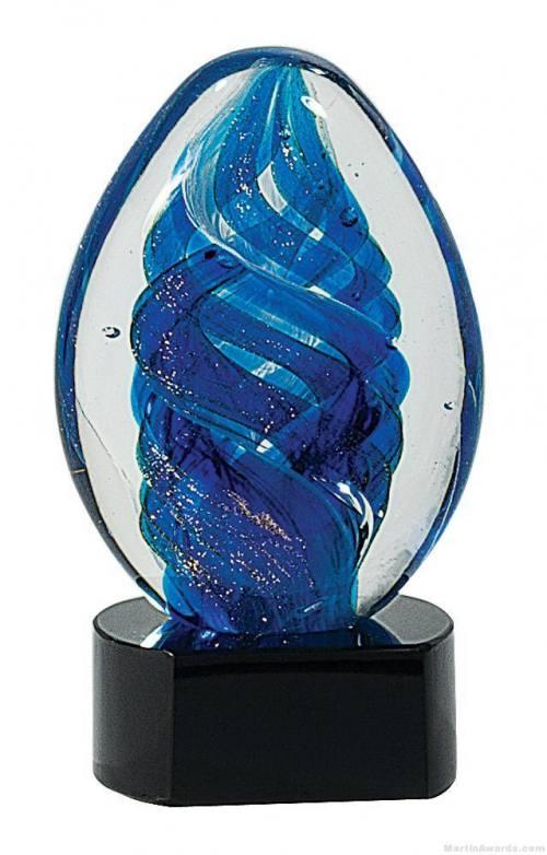 Blue Swirled Art Glass Award