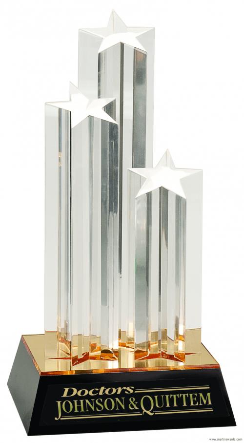 Triple Star Column Acrylic
