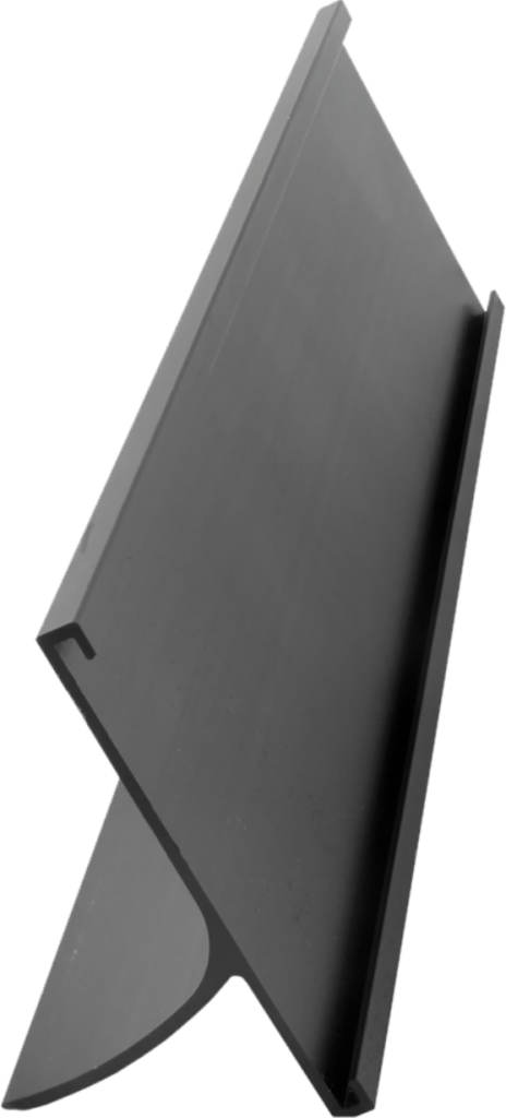 Black 2 inch aluminum desk holder