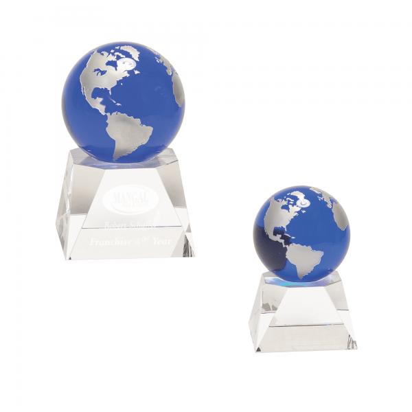 Blue Globe Crystal