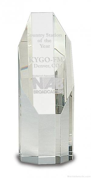 Genuine Prism Optical Obelisk Tower Crystal Octagon Face
