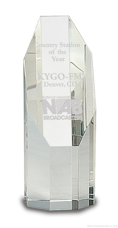 Genuine Prism Optical Obelisk Tower Crystal Octagon Face