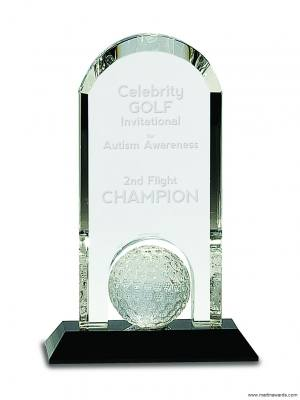 Crystal Dome with inset Golf ball