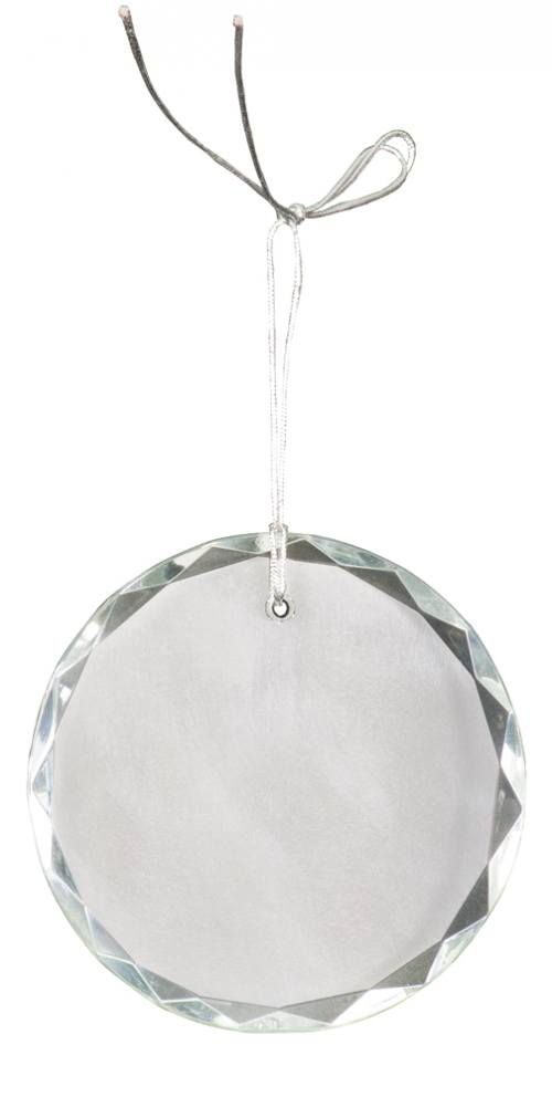 3 inch Crystal Round Facet Ornament