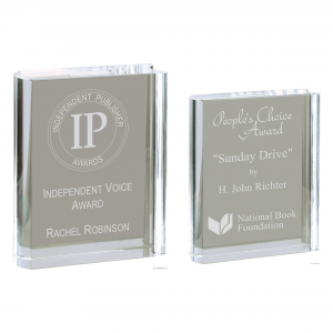 Crystal Free-standing Book Award