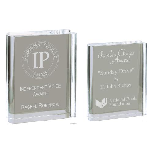 Crystal Free-standing Book Award