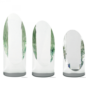Prism Cylindrical Tower Crystal with Oval face