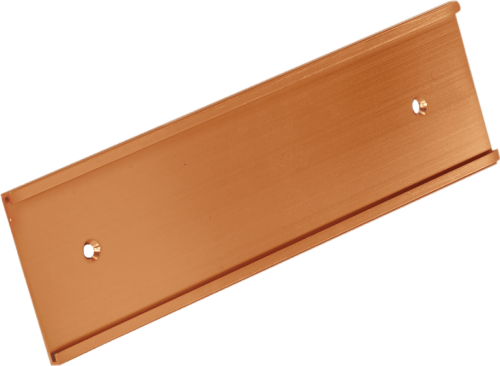 Gold 2 inch aluminum wall bracket