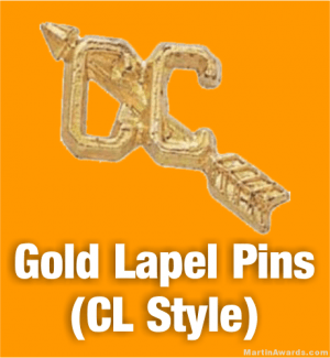 Gold Lapel Pins (CL Style)