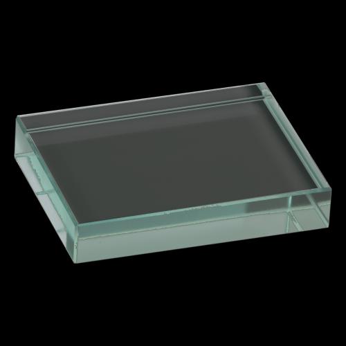 Jade Glass Rectangle Paperweight