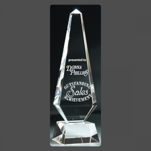 "3 3/4"" x 13"" Crystal Obelisk Towers"