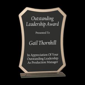Black Rectangle Glass Award