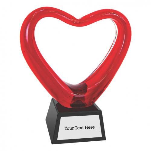 Heart-shaped Art Glass