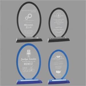 Regal Oval Glass Award