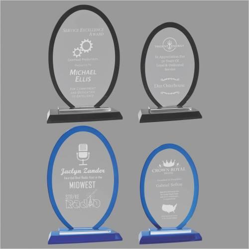 Regal Oval Glass Award