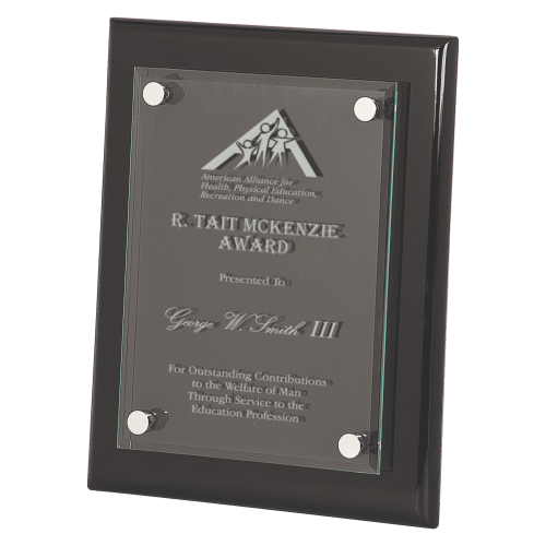 Floating Glass Plaque Award