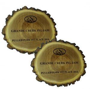 Old West Log Plaque