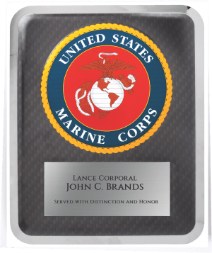MA4507 - Marine Corps Hero Plaque