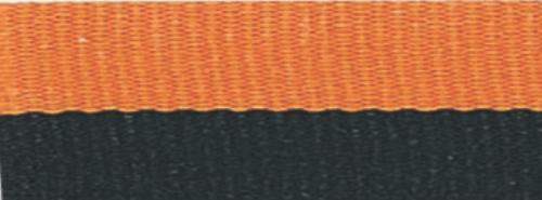 "7/8"" Black/Orange Neck Ribbon with Snap Clip"