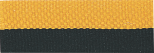 "7/8"" Black/Gold Neck Ribbon with Snap Clip"