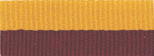 """7/8"""" Maroon/Gold Neck Ribbon with Snap Clip"""