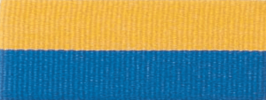 "1 1/2"" Blue/Gold Neck Ribbon with Snap Clip"