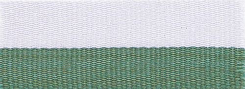 """1 1/2"""" Green/White Neck Ribbon with Snap Clip"""