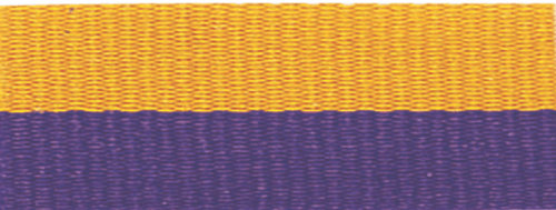 """1 1/2"""" Purple/Gold Neck Ribbon with Snap Clip"""