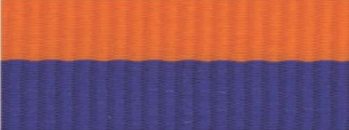 "1 1/2"" Blue/Orange Neck Ribbon with Snap Clip"