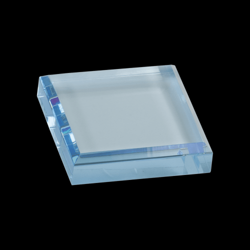 """3"""" x 3"""" Blue Acrylic Paperweight"""