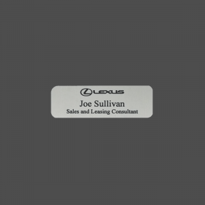 "1"" x 3"" Silver Satin Metal Namebadge"