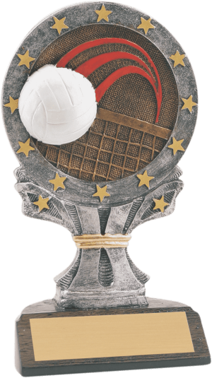 Taller Volleyball All Star Resin