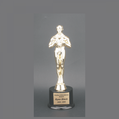 "7"" Male Achiever Gold Plastic Trophy"