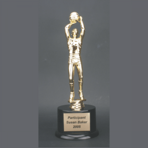 "11"" Male Basketball Gold Plastic Trophy"