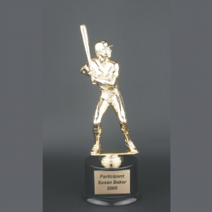 "11"" Male Baseball Gold Plastic Trophy"
