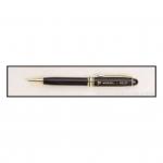 Black Euro Pen with Gold Trim 1