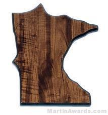 Minnesota State Shaped Plaque