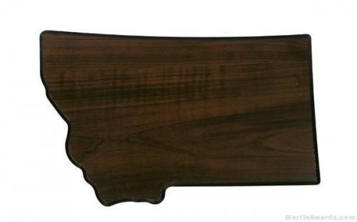 Montana State Shaped Plaque