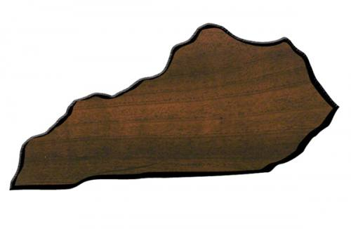 Kentucky State Shaped Plaque