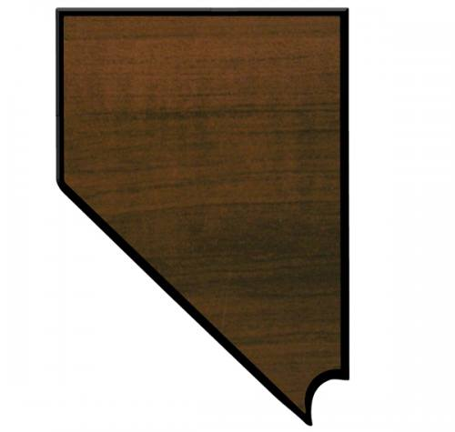 Nevada State Shaped Plaque