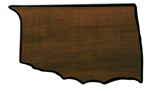 Oklahoma State Shaped Plaque