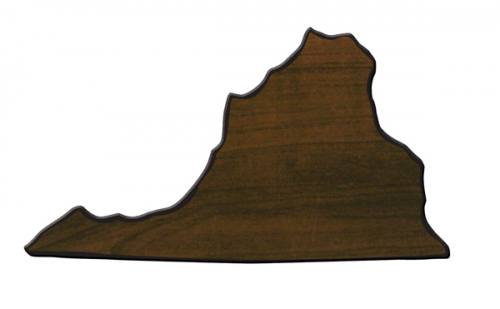 Virginia State Shaped Plaque