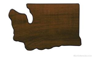 Washington State Shaped Plaque