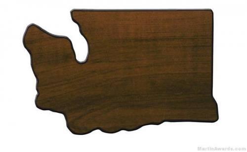 Washington State Shaped Plaque