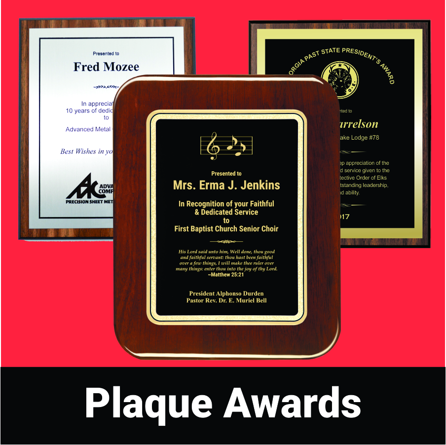 View our Plaque Awards