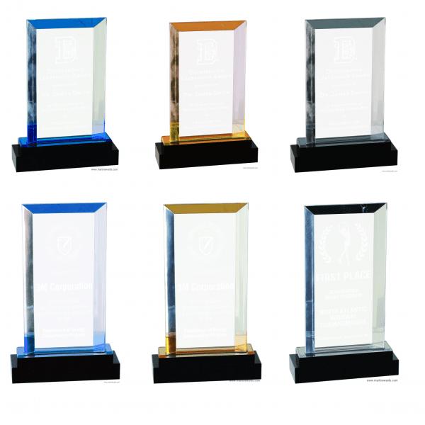 Rectangle Fusion Impress Acrylic Award series