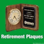 Retirement Plaques