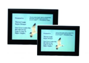 Solid Black Finish Plaque with Full color Plate
