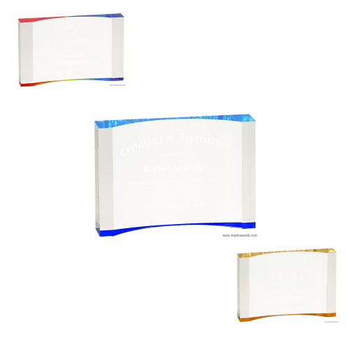 Thick Crescent Acrylic Awards
